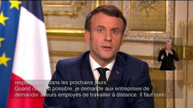 Coronavirus : Emmanuel Macron demande l'intensification du télétravail