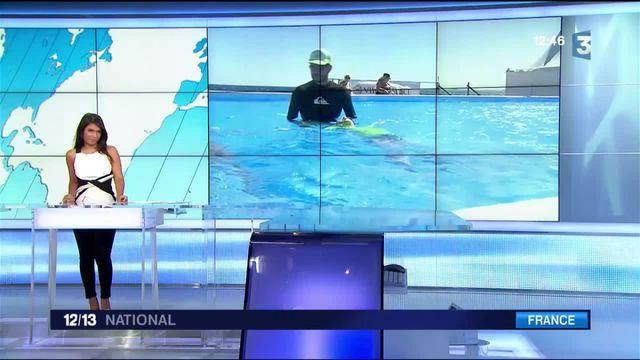 Nice : des cours de natation face à la mer