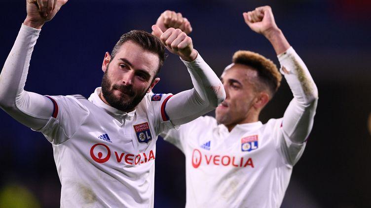 Les Lyonnais l'ont emporté (1-0) lors du huitième de finale aller de la Ligue des champions face à la Juventus Turin, le 26 février 2020. (FRANCK FIFE / AFP)