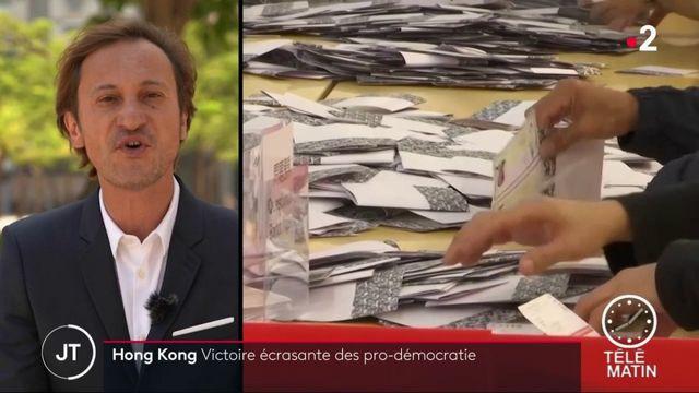 Hong Kong : victoire électorale du camp démocrate, un tournant dans la crise ?