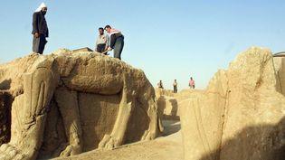 Le site de Nimroud (photographié en 2001) avant les detructions opérées par l'EI le 5 mars.  (KARIM SAHIB / AFP)