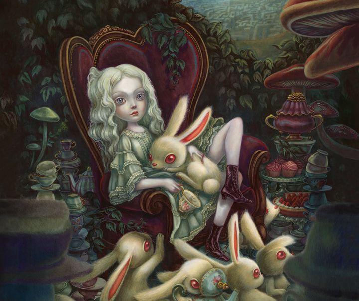 """Illustration (détail) """"Alice au pays des merveilles""""  (Bejamin Lacombe / Soleil)"""