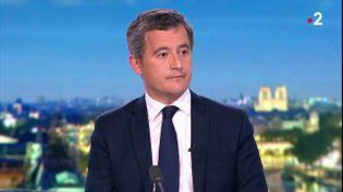 Gérald Darmanin sur le plateau du journal de 20 heures de France 2, le 25 septembre 2020. (FRANCE 2)