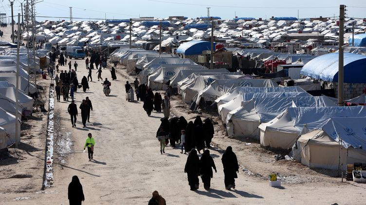 Dans un camp, àHassaké, en Syrie, le 1er avril 2019. (ALI HASHISHO / REUTERS)