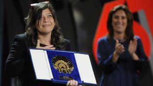 La réalisatrice vénézuélienne Mariana Rondón, lauréate du Coquillage d'or au festival Saint-Sébastien, en Espagne (28 septembre 2013)  (Rafa Rivas / AFP)