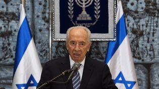 L'ancien président d'Israël, Shimon Perez, à Jérusalem, le 8 avril 2013. (PAUL J. RICHARDS / POOL)
