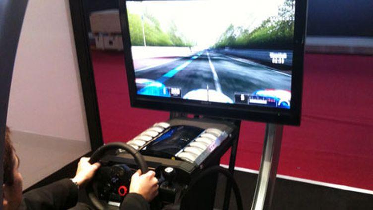 Le pod de démonstration de Gran Turismo 5 au Salon de l'Automobile 2010 (Angel HERRERO LUCAS / France Télévisions)