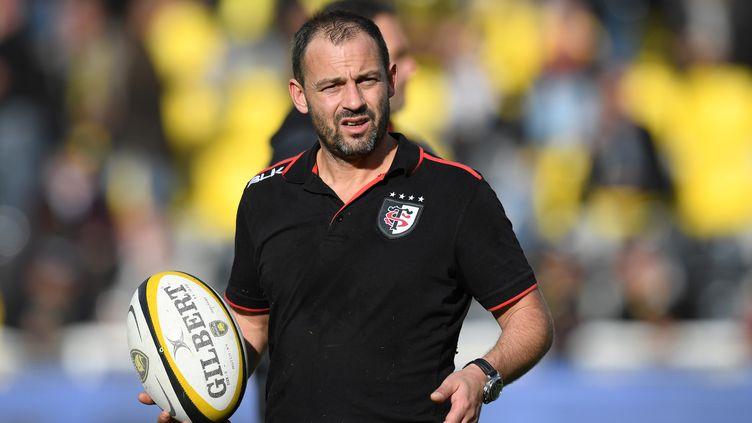 L'entraîneur des trois-quarts du Stade Toulousain, Jean-Baptiste Elissalde (XAVIER LEOTY / AFP)