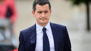 Le ministre des Comptes publics, Gérald Darmanin, à l'Elysée, le 19 juillet 2017. (MARTIN BUREAU / AFP)