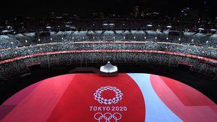 Le Stade olympique de Tokyo, lors de la cérémonie d'ouverture, le 23 juillet 2021. (FRANCOIS-XAVIER MARIT / AFP)