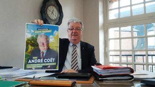 André Coët, maire DVD et candidat à sa réélection. (BENJAMIN  ILLY / FRANCE-INFO)