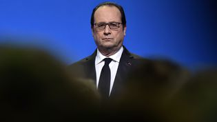 François Hollande le 16 janvier 2016 lors d'un déplacement à Tulle (Corrèze). (GEORGES GOBET / AFP)
