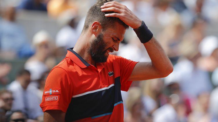 Benoît Paire, défait au premier tour de Roland-Garros face à Rafael Nadal. (STEPHANE ALLAMAN / STEPHANE ALLAMAN)