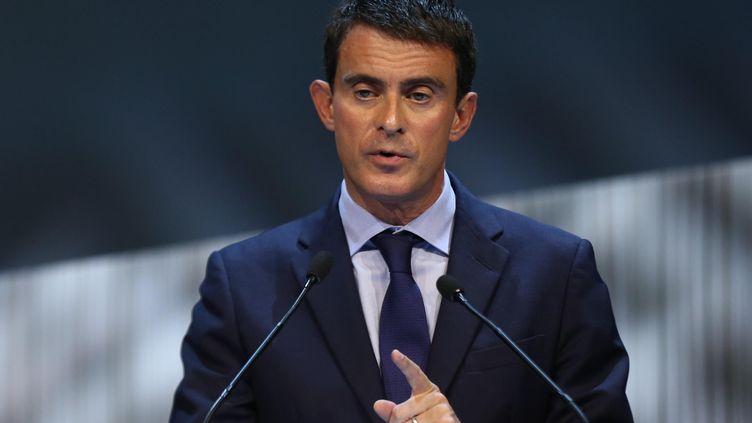 Manuel Valls lors d'uen précédente déclaration à Lyon (Rhône) au congres de l'union sociale pour l'habitat, le 25 septembre 2014/ (FABRICE ELSNER /  SIPA)