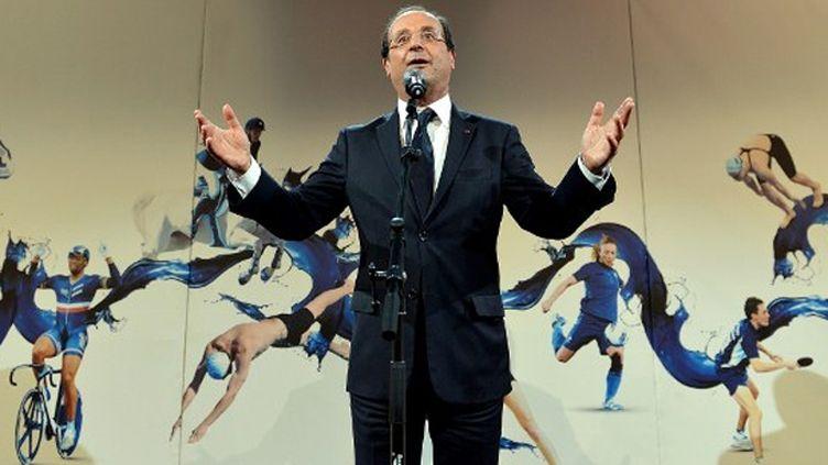 Le Président François Hollande enthousiasmé par sa visite aux JO