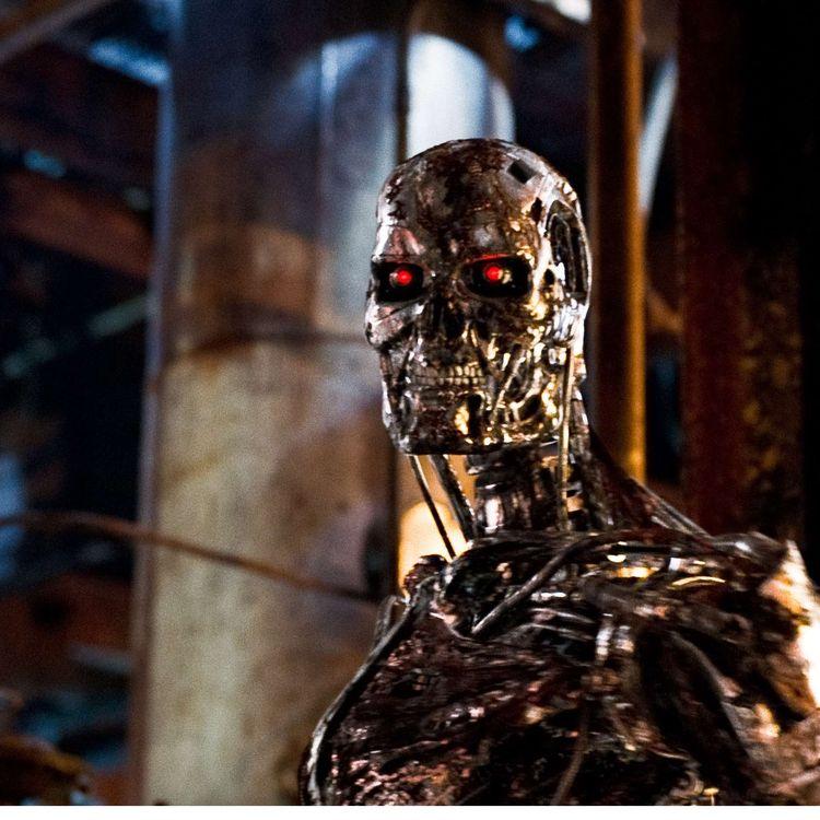 """Le robot T-800 dans le film """"Terminator Salvation"""", sorti dans les salles de cinéma en 2009. (SIPANY / SIPA)"""