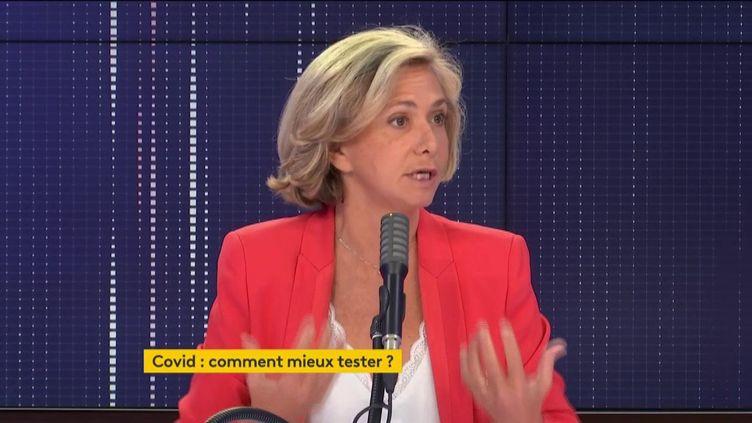 Valérie Pécresse, présidente de la région Ile-de-France, invitée de franceinfo, jeudi 17 septembre 2020. (FRANCEINFO / RADIOFRANCE)