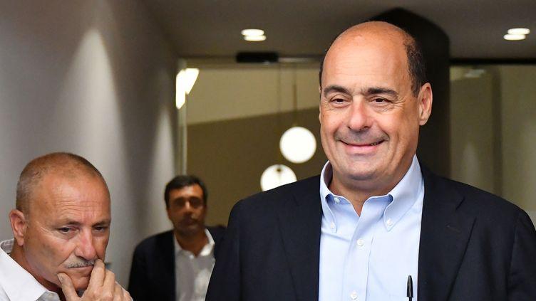 Le chef du Parti démocrate (PD) italien, Nicola Zingaretti, à Rome, le 21 août 2019. (ALBERTO PIZZOLI / AFP)