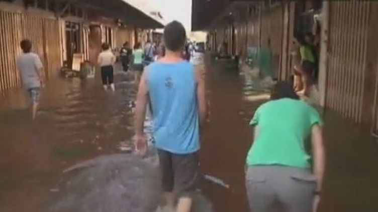 Inondations en Thaïlande, en novembre 2011. (FTVi)