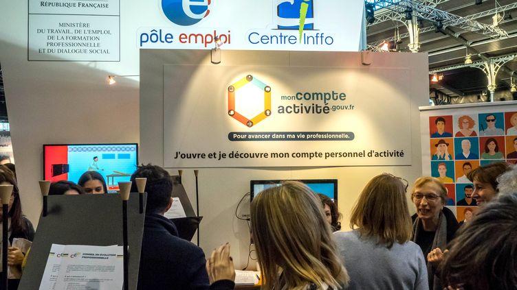 Unsalon du travail et de la mobilité professionnelle, à Paris, en janvier 2017. (MAXPPP)