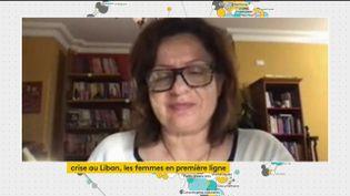 La terrible crise économique traversée par le Liban touche en premier lieu les femmes. Lina Abou Habib, militante féministe au Liban, était l'invitée du journal de 23 heures de franceinfo, jeudi 23 juillet. (FRANCEINFO)