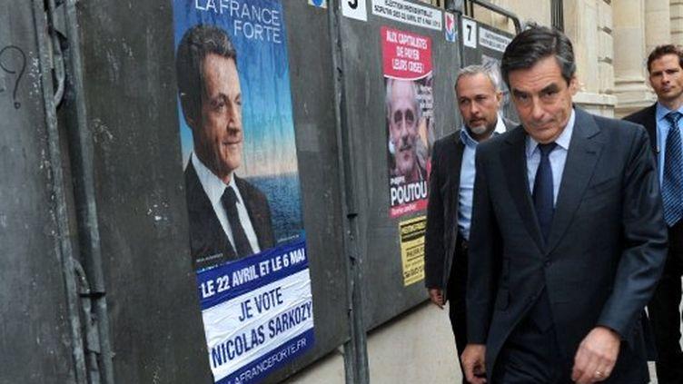 François Fillon, dimanche soir (MEHDI FEDOUACH / AFP)