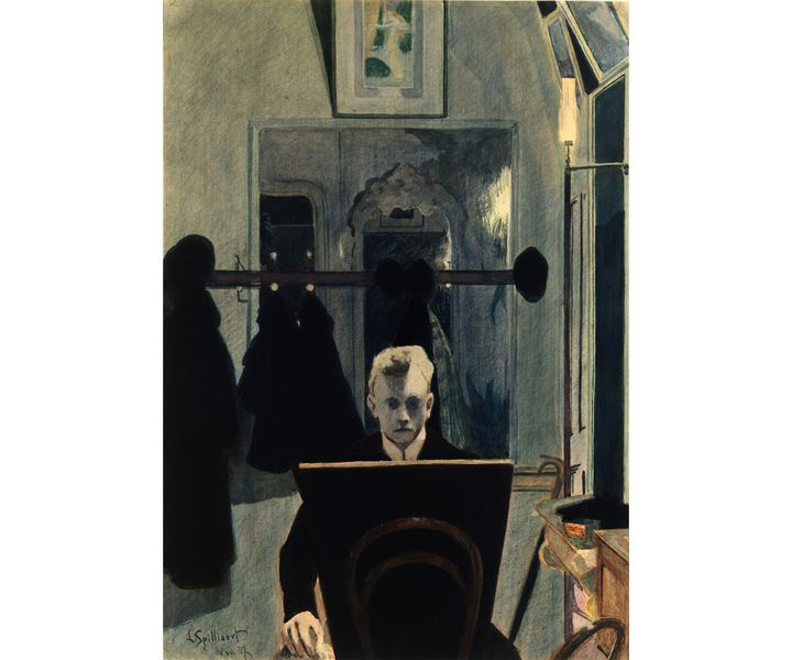 "Léon Spilliaert, ""Autoportrait"" 1907, Etats-Unis, New-York (NY), The Metropolitan Museum of Art (© The Metropolitan Museum of Art, Dist. RMN-Grand Palais / image of the MMA)"