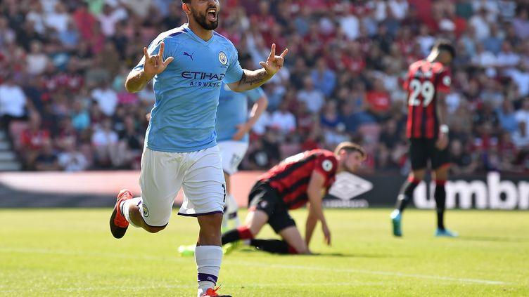 Sergio Aguëro auteur d'un doublé contre Bournemouth  (GLYN KIRK / AFP)