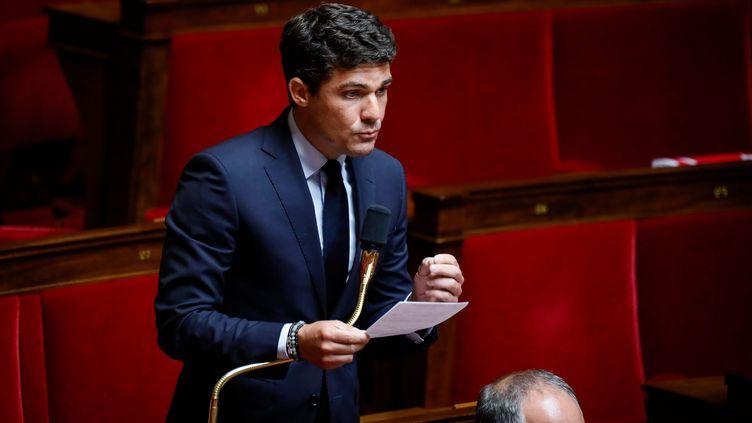 Le député Les Républicains du Lot, Aurélien Pradié, le 9 juin 2020 à l'Assemblée nationale. (THOMAS PADILLA / MAXPPP)