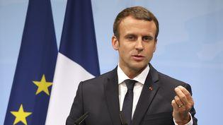 Le président de la République avait invité, en juin dernier, les climatologues du monde entier à venir travailler en France, après le retrait des États-Unis de l'accord de Paris. (LUDOVIC MARIN / AFP)