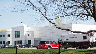 Paisley Park, la propriété de Prince près de Minneapolis, dans le Minnesota, ici le 22 avril 2016, le lendemain de la mort du chanteur.  (Rich Ryan / DPA)
