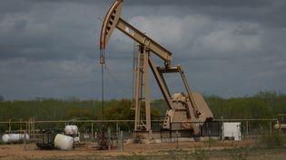 Un puits de pétrole, le 12 mars 2019, àCotulla, au Texas. (LOREN ELLIOTT / AFP)