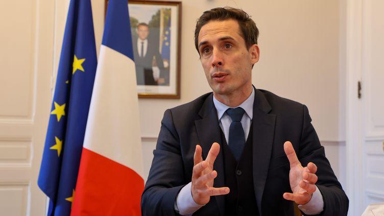 Jean-Baptiste Djebbari en mars 2021. (MICHAEL DESPREZ / MAXPPP)