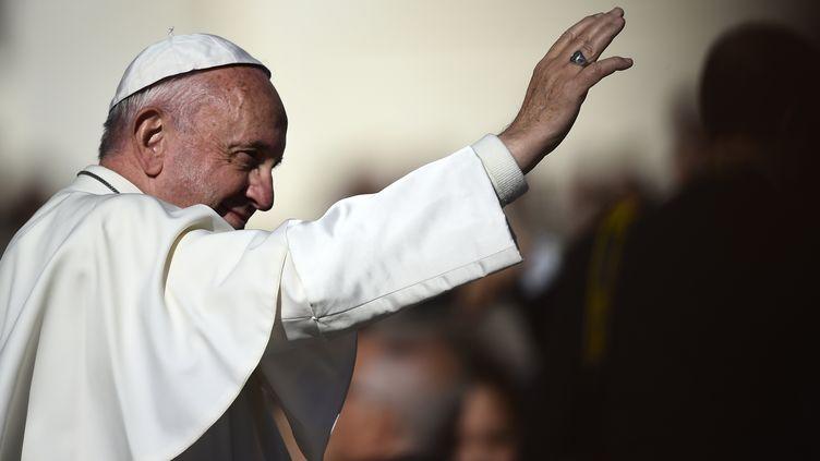 Le pape François le 9 novembre, au Vatican. (FILIPPO MONTEFORTE / AFP)