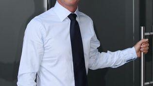 """Samuel Etienne, journaliste de France 3 et futur animateur de """"Questions pour un champion"""", lors de la conférence de rentrée de France Télévisions, le 31 août 2011. (MAXPPP)"""