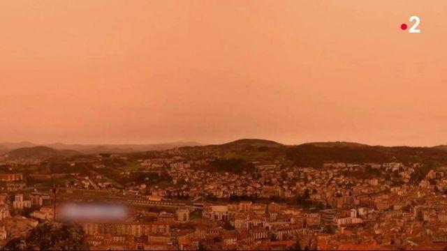 Météo : une tempête de sable colore le ciel de l'Est d'une teinte oranger