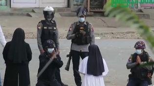 Birmanie : l'ONU condamne les violentes répressions anti-manifestants (FRANCE 2)
