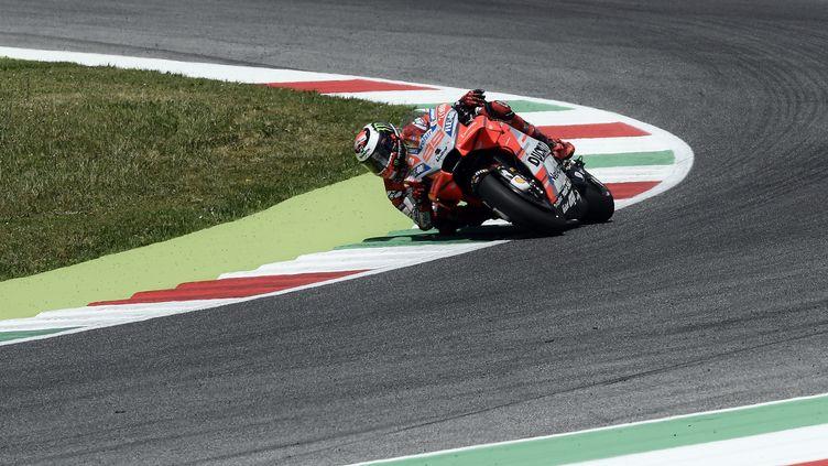 Jorge Lorenzo (Ducati) sur ses terres (FILIPPO MONTEFORTE / AFP)