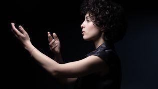 La chanteuse Barbara Pravi, qui représente la France au concours de l'Eurovision en 2021 (JOEL SAGET / AFP)