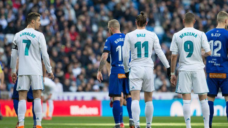 Cristiano Ronaldo, Gareth Bale et Karim Benzema (Real Madrid). (RUDY / SPAINDPPI)