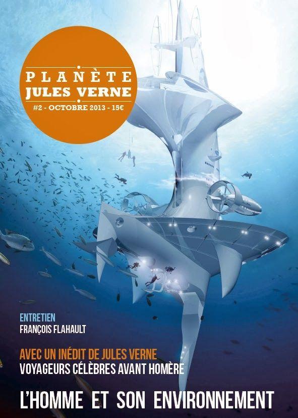 """La couverture du numéro 2 d'octobre 2013 de """"Planète Jules Verne""""  (DR)"""