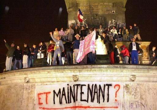 Place de la Bastille le 5 mai 2002 (MEHDI FEDOUACH / AFP)
