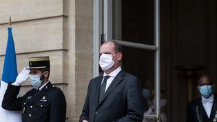 Le Premier ministre Jean Castex à l'Hôtel Matignon, à Paris, le 24 août 2020. (NICHOLAS ORCHARD / HANS LUCAS / AFP)