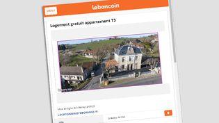 L'annonce postée par la mairie de Gréalou, dans le Lot, le3 février 2018. (CAPTURE D'ÉCRAN LEBONCOIN)