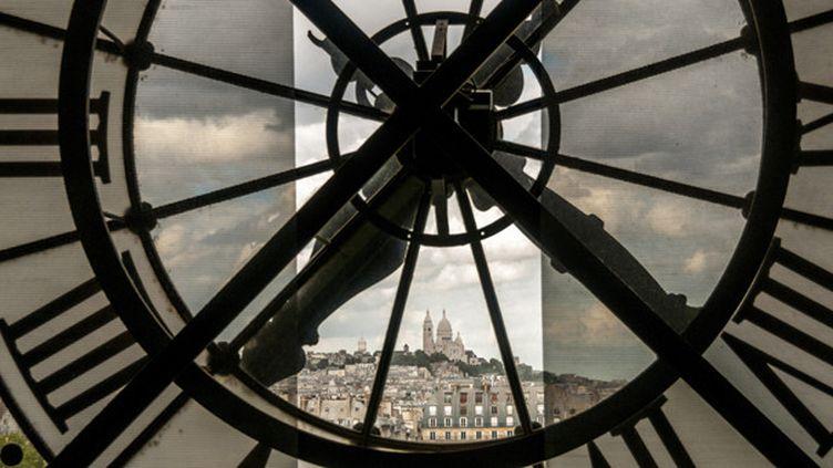 Montmartre à travers l'horloge du musée d'Orsay  (Bernard Jaubert)
