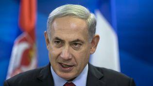 Le Premier ministre israélien, Benyamin Nétanyahou, le 1er décembre 2014 à Jérusalem. (BAZ RATNER / AFP)