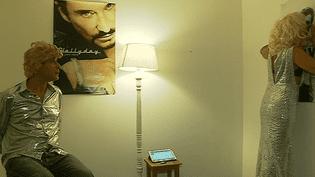 Johnny icône gentiment moquée de la 4ème Nuit des compagnies de Mulhouse  (France 3 culturebox)