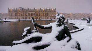 Leparc du chateau de Versailles sous la neige, mardi 6 février 2018. (MAXPPP)