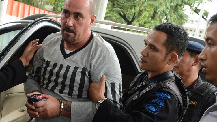 Le Français Serge Atlaoui, condamné à mort en Indonésie, le 1er avril 2015 à Tangerang (Indonésie). (ROMEO GACAD / AFP)