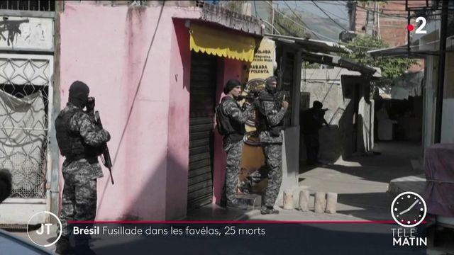 Brésil: une opération antidrogue tourne au bain de sang dans une favela de Rio de Janeiro